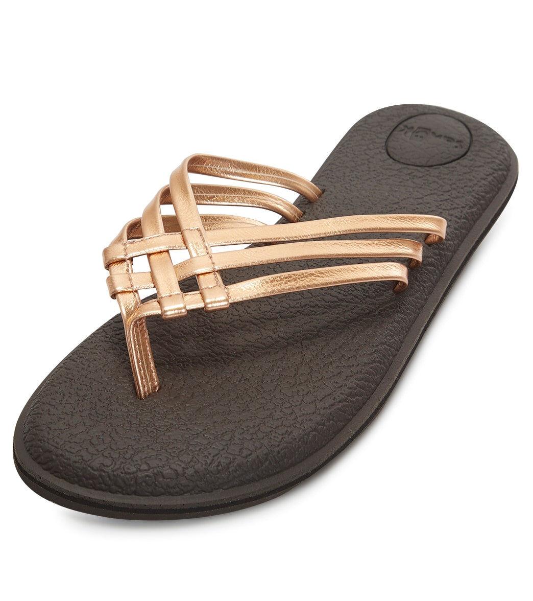 Sanuk Women's Yoga Salty Metallic Sandal - Copper 10