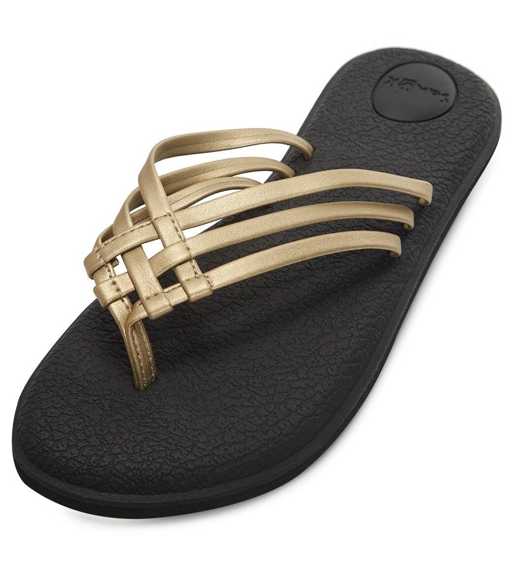 Sanuk Women's Yoga Salty Metallic Sandal - Champagne 10