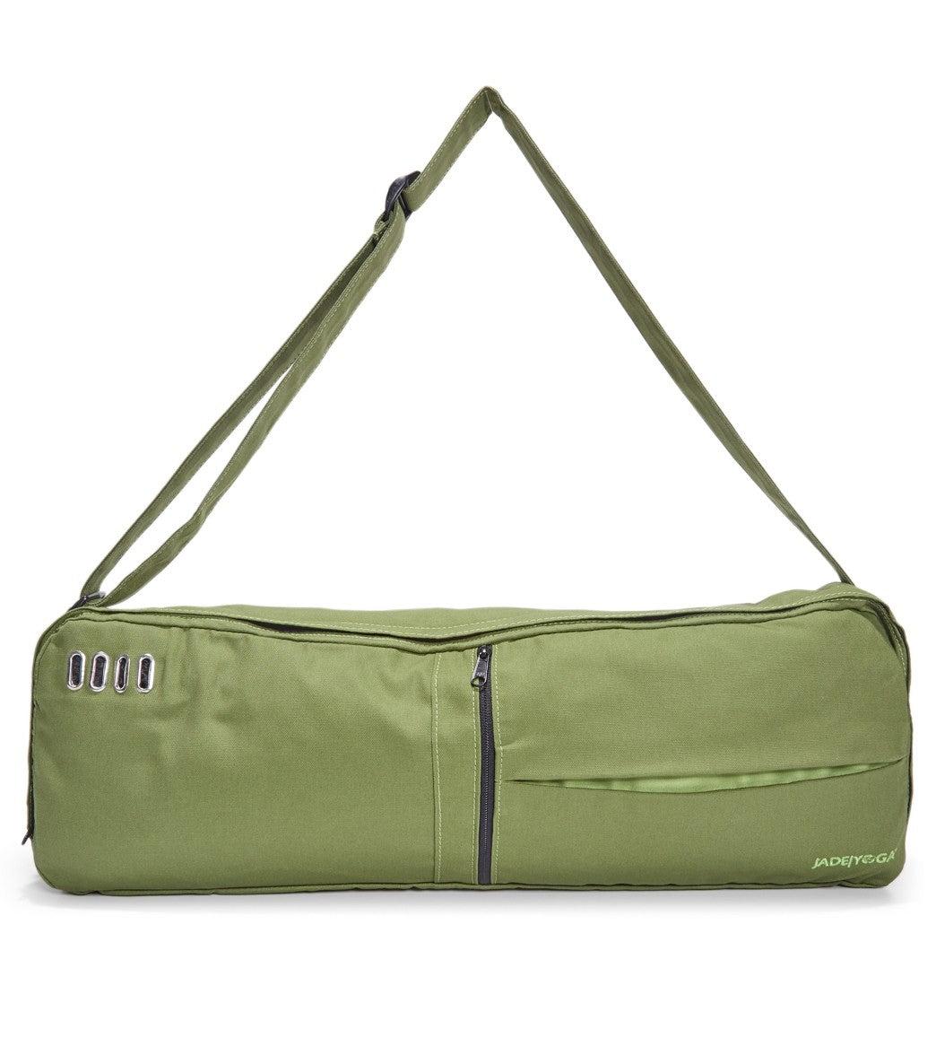 Jade Yoga Macaranga Mat Bag Fern Cotton