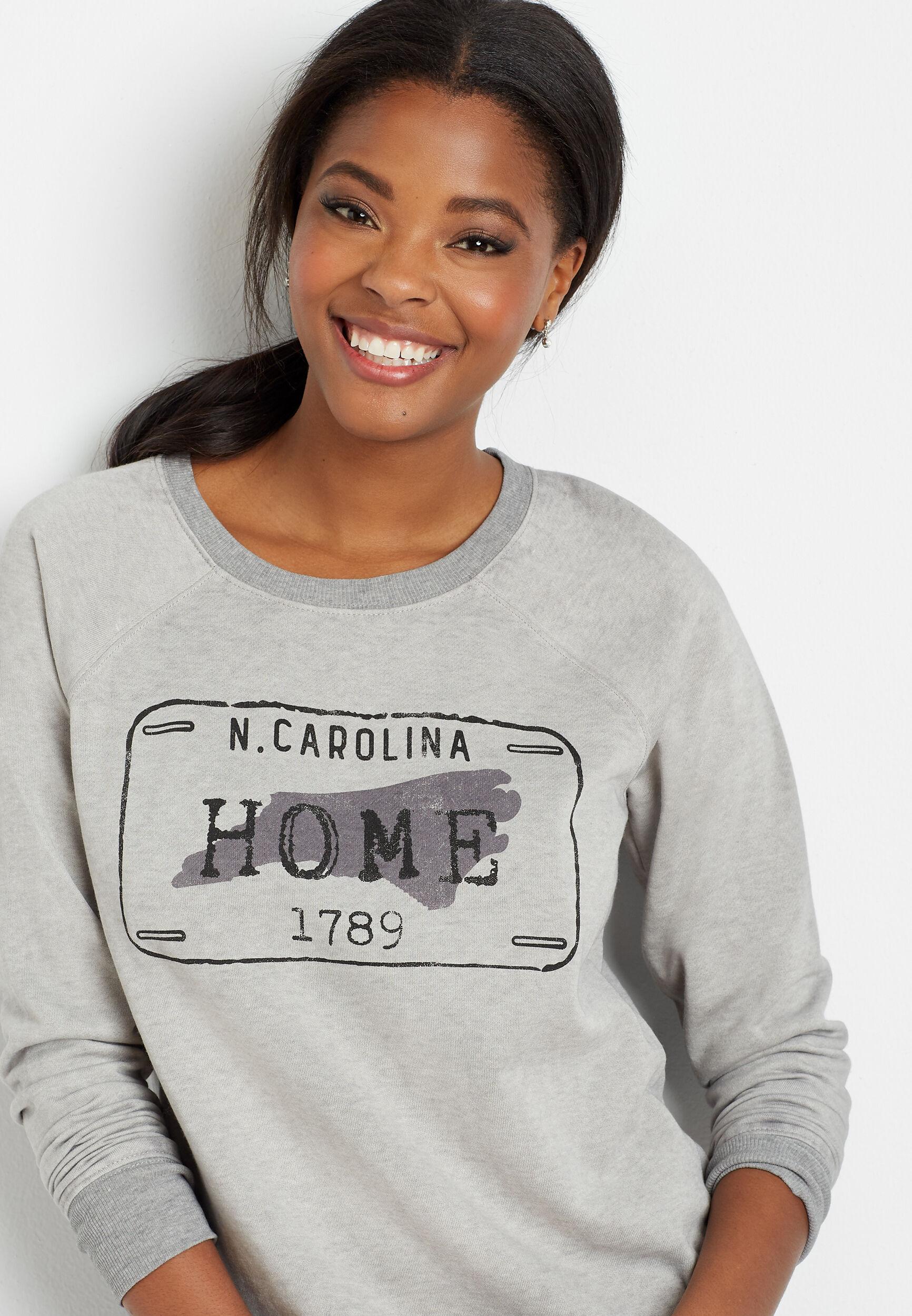 Maurices Womens Gray North Carolina Crew Neck Sweatshirt  -  Medium