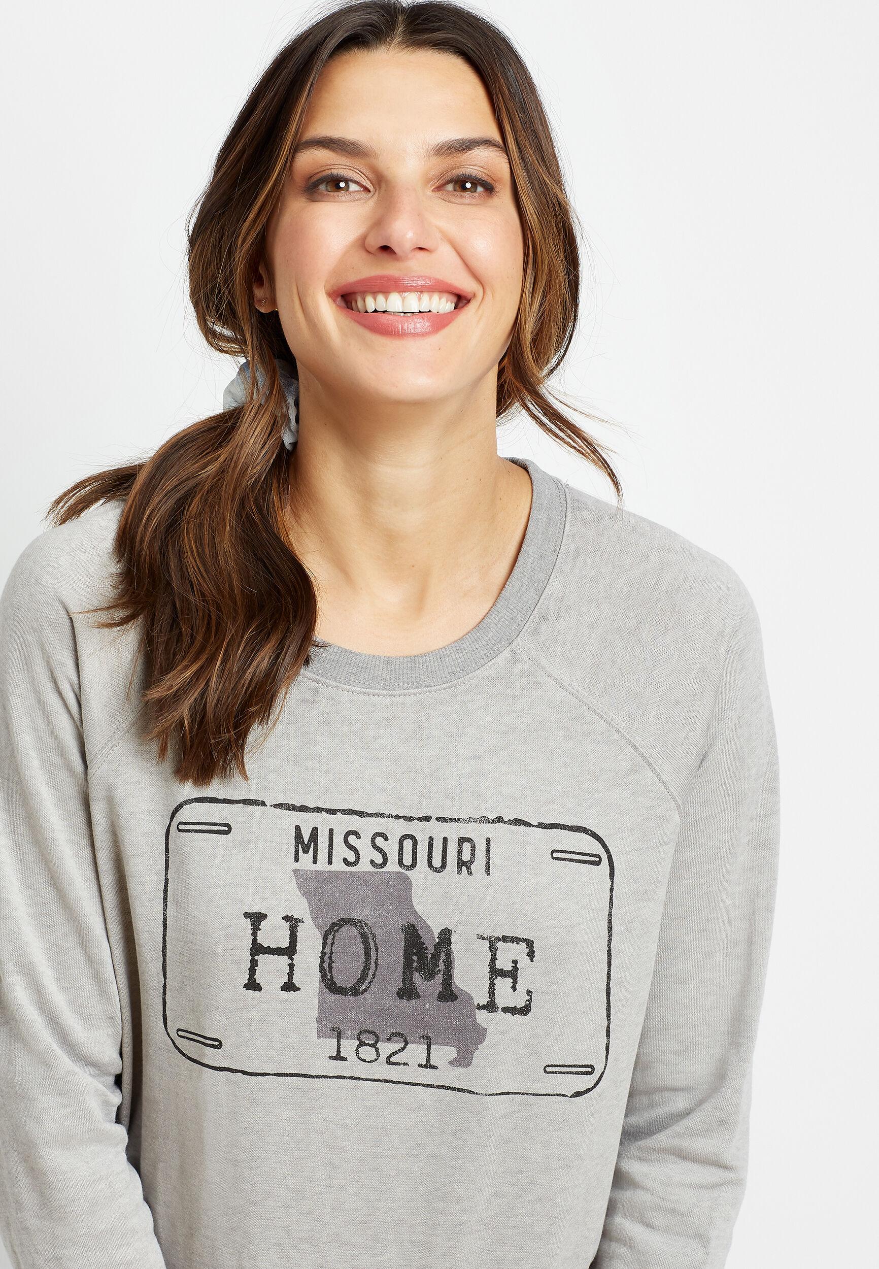 Maurices Womens Gray Missouri Crew Neck Sweatshirt  -  Small