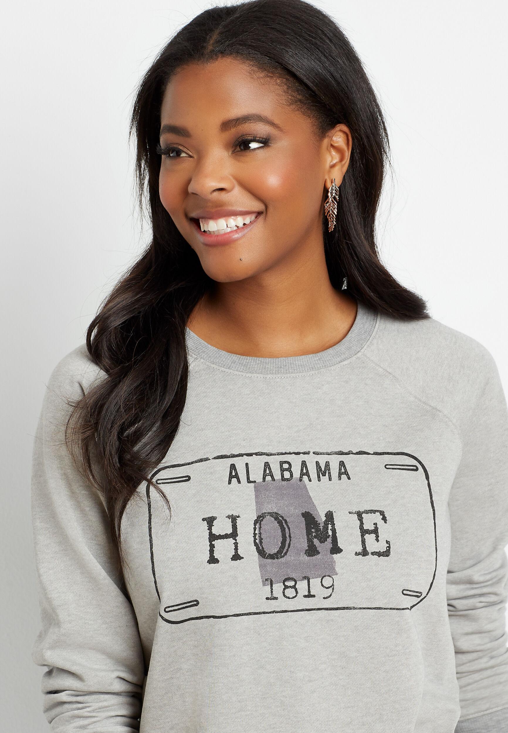 Maurices Womens Gray Alabama Crew Neck Sweatshirt  -  Medium