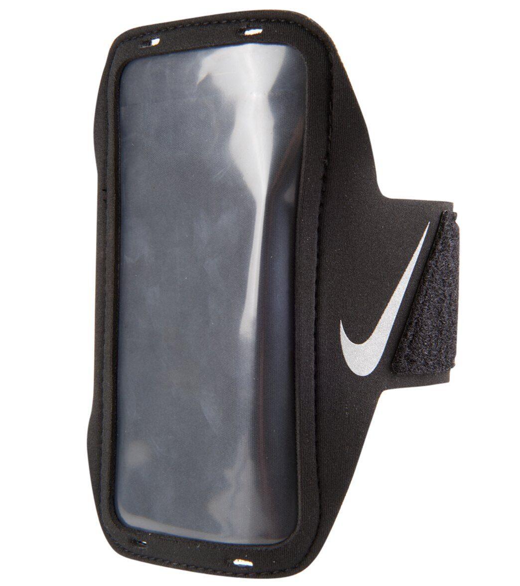 Nike Lean Arm Band For Phones - Black/Black/Silver Alluminum/Neoprene/Plastic/Polyester/Nylon - Swimoutlet.com