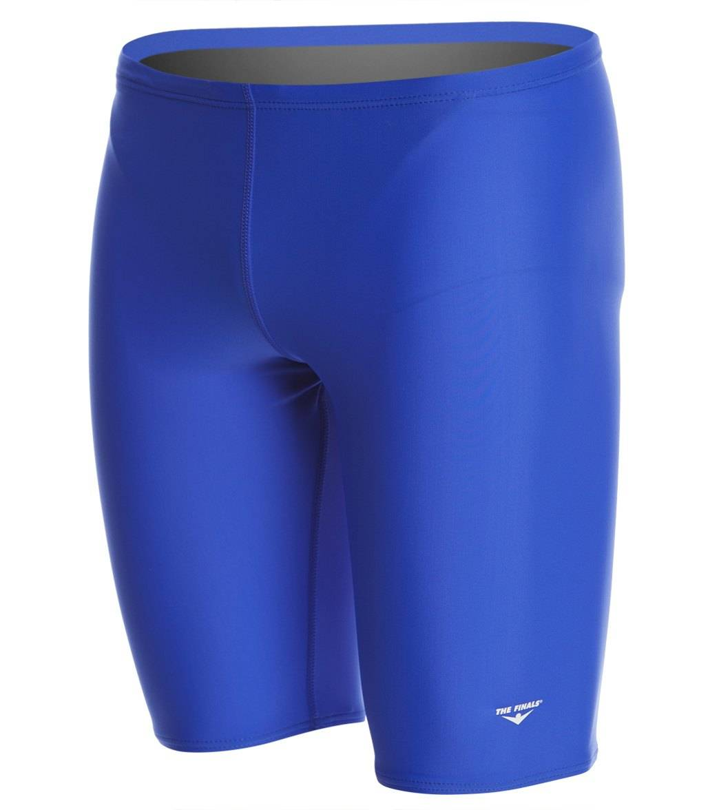 The Finals Solid Jammer Swimsuit Lycra - Royal 22 Lycra®/Nylon/Spandex - Swimoutlet.com