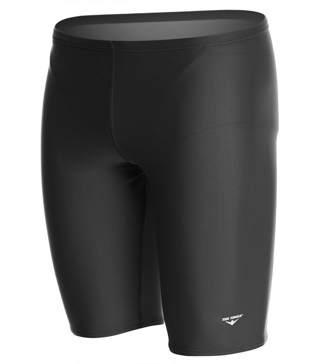 The Finals Solid Jammer Swimsuit Lycra - Black 22 Lycra®/Nylon/Spandex - Swimoutlet.com