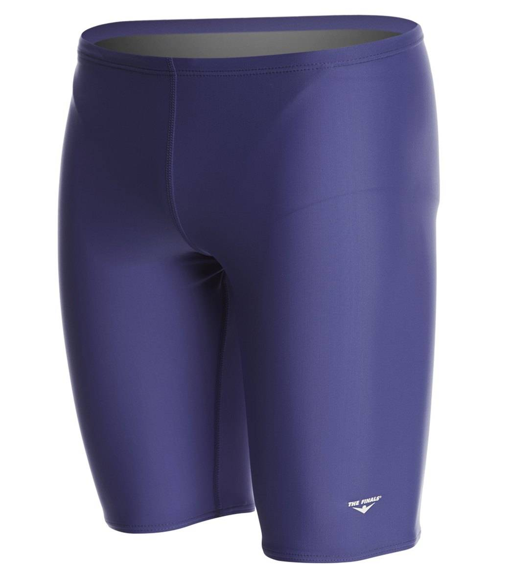 The Finals Solid Jammer Swimsuit Lycra - Navy 22 Lycra®/Nylon/Spandex - Swimoutlet.com