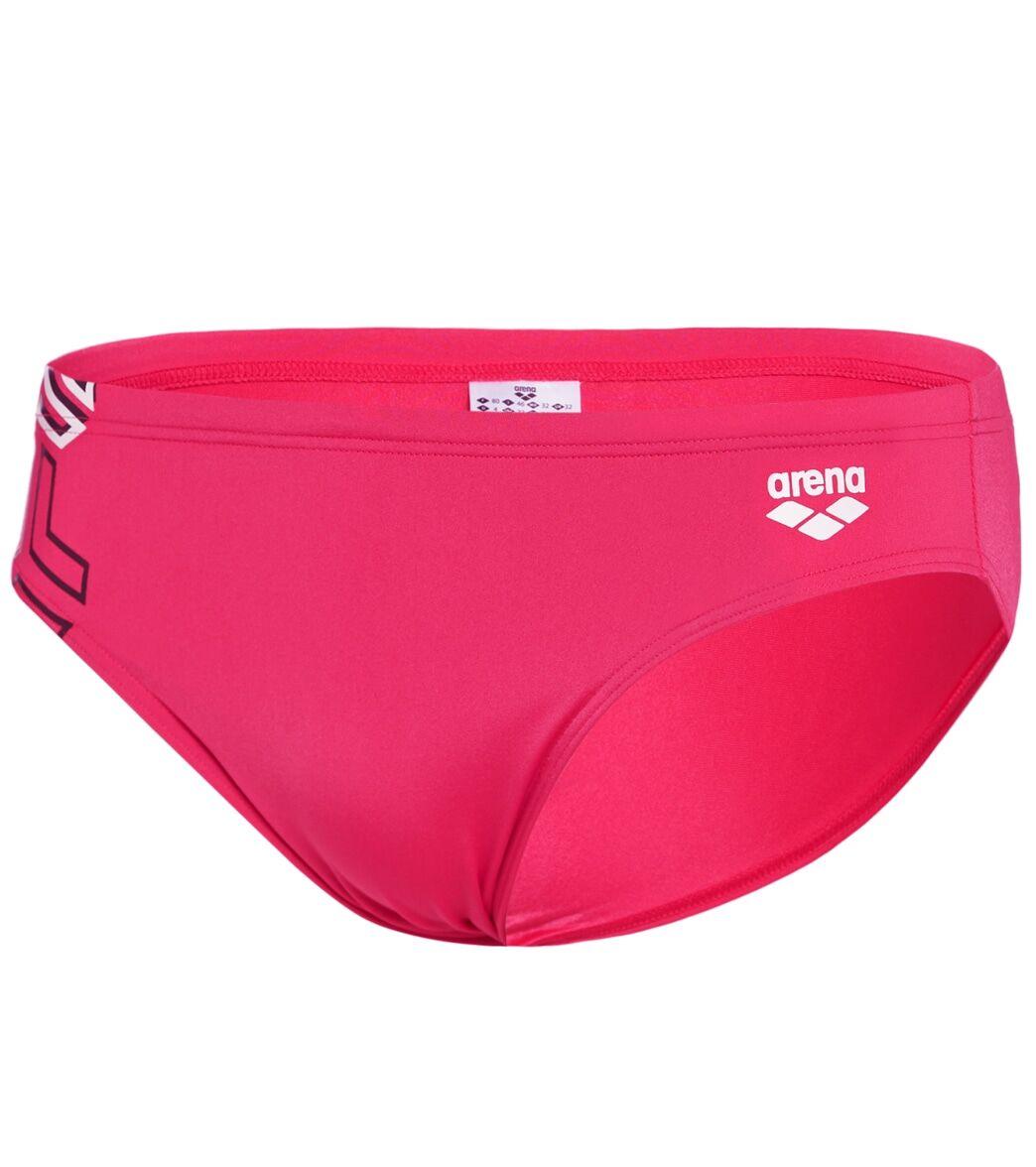 Arena Men's Pink Kikko Brief Swimsuit - Freak Rose 26 - Swimoutlet.com