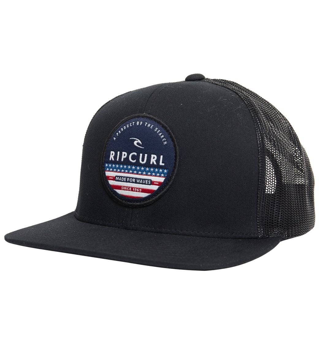 Rip Curl Patch Trucker Hat - Red One Size - Swimoutlet.com