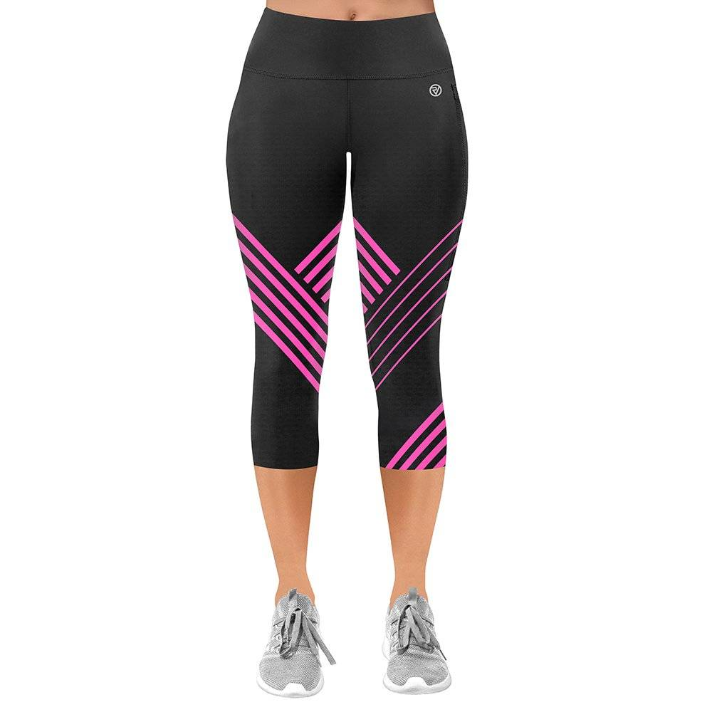 Proviz NEW: Classic Women's Running / Yoga Leggings - 3/4 - UK14