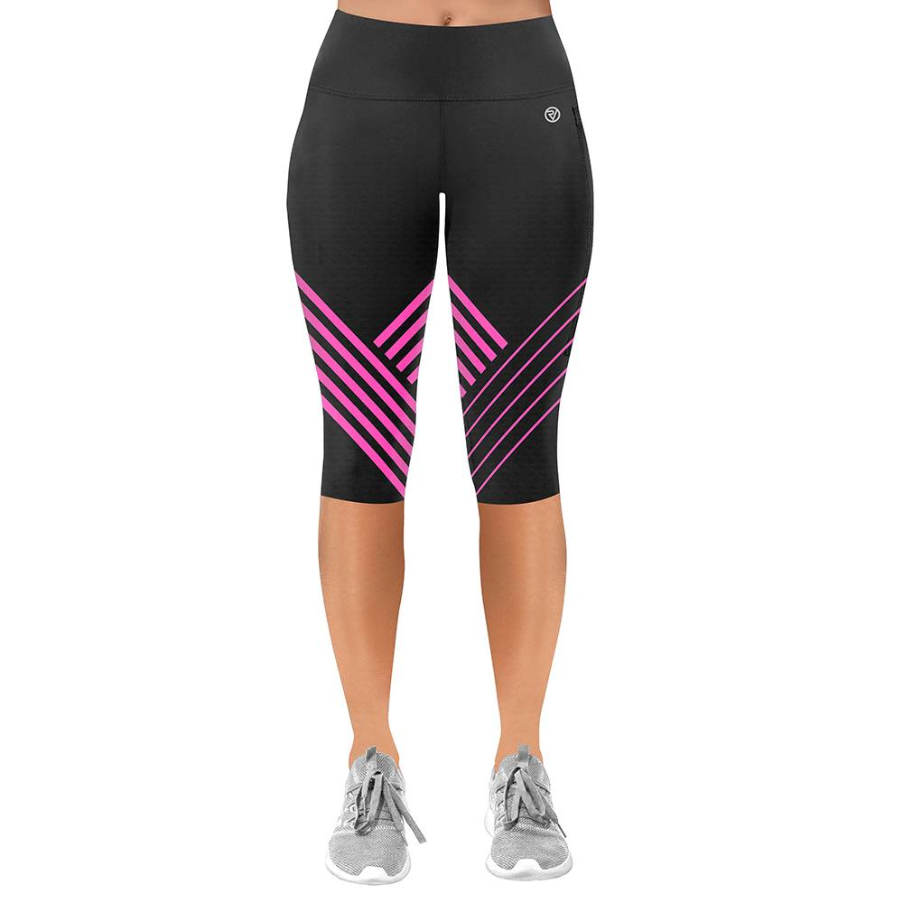 Proviz NEW: Classic Women's Running / Yoga Leggings - Capri - UK14