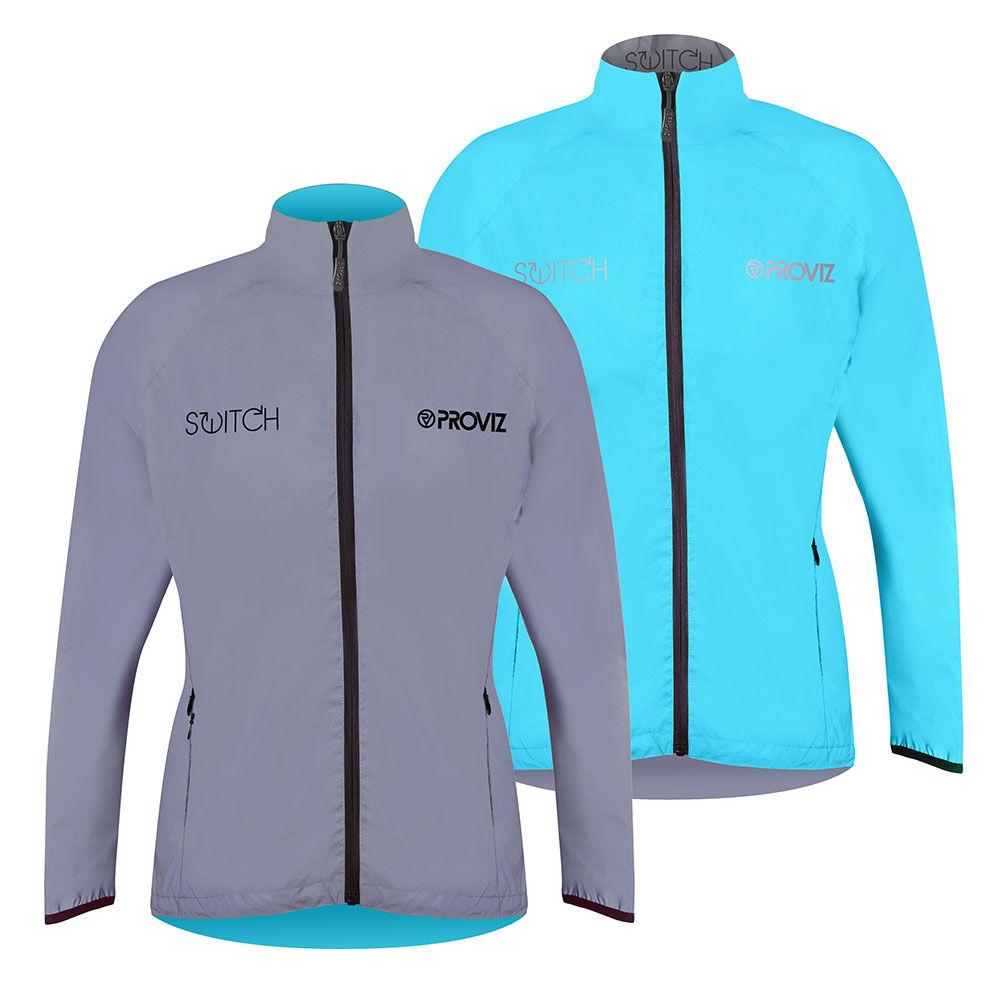 Proviz Switch Cycling Jacket - Womens - Light Blue/Reflective - 6