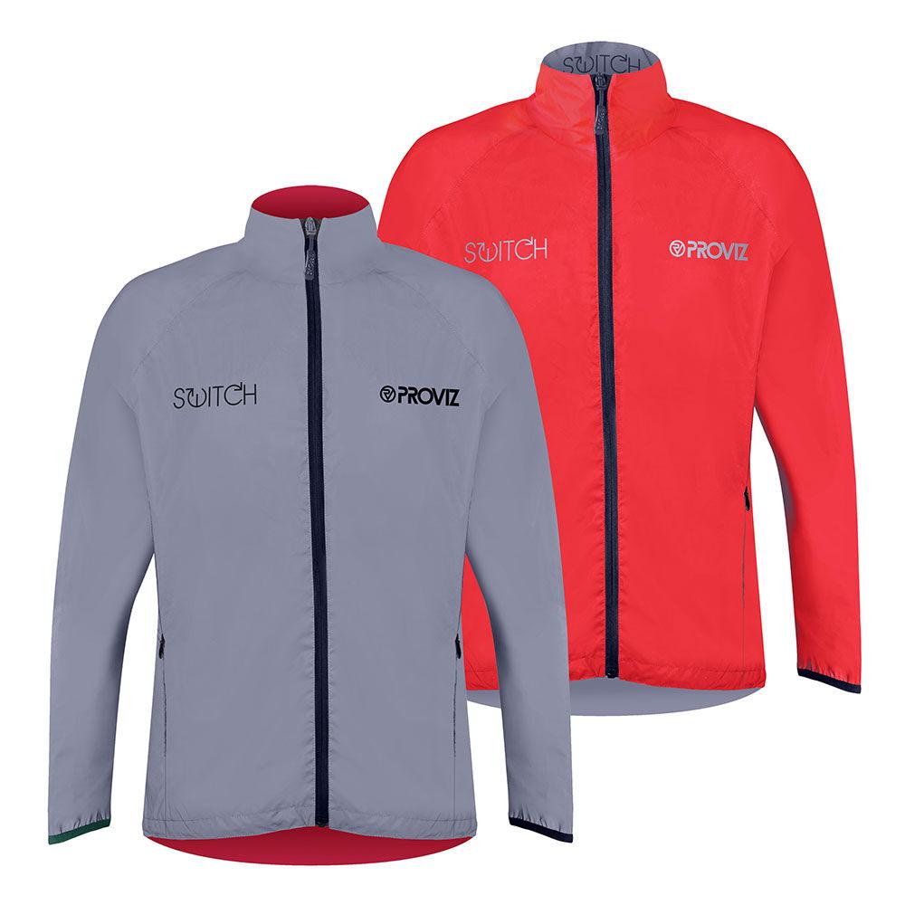 Proviz Switch Cycling Jacket - Mens - Red/Reflective - Medium