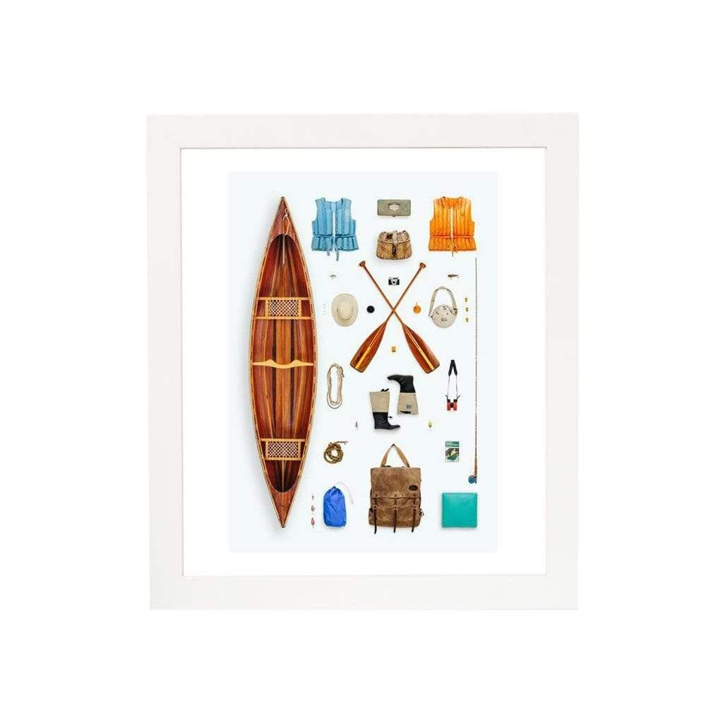 Field Guide Canoeist Print
