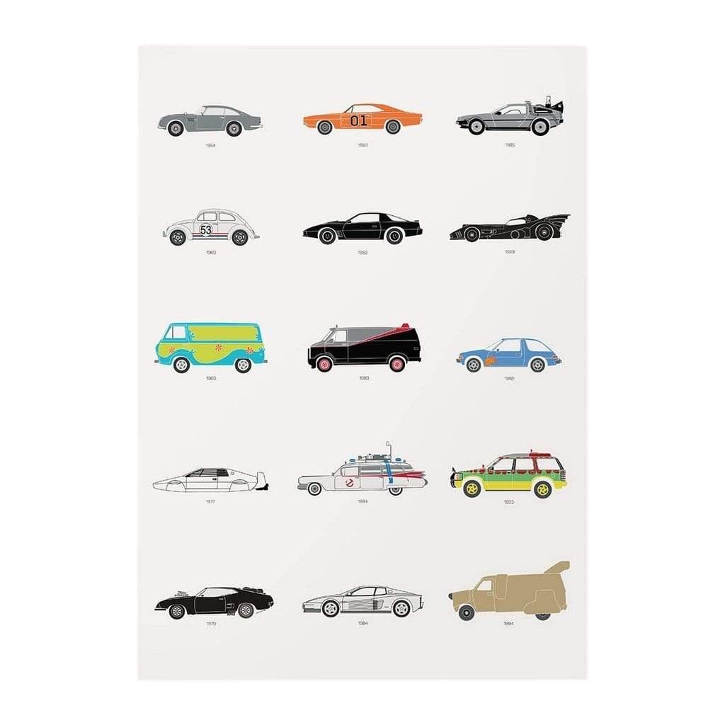 Rear View Prints Film Classics - Movie Car Poster