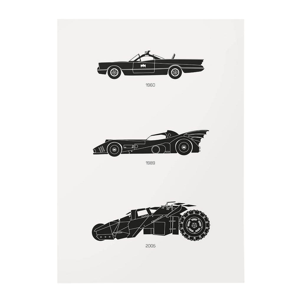 Rear View Prints Holy Smokes! - Batman Car Poster