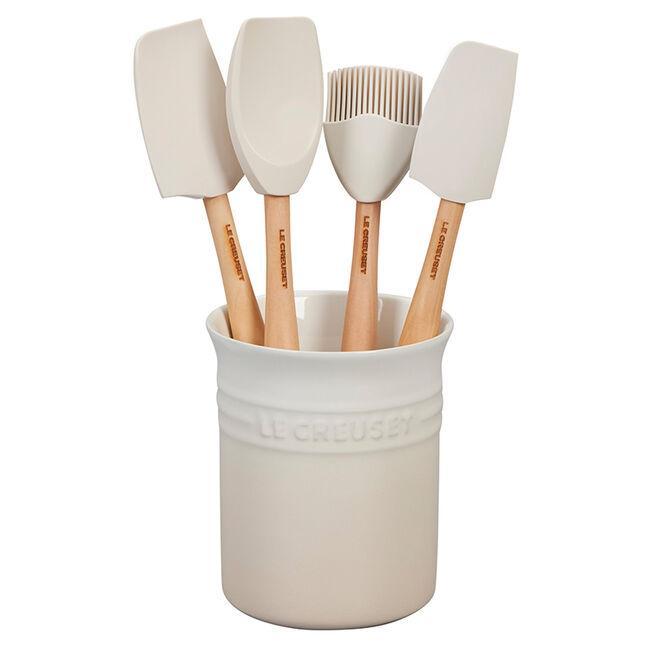 Le Creuset Craft 5-Piece Kitchen Utensil Set with Crock