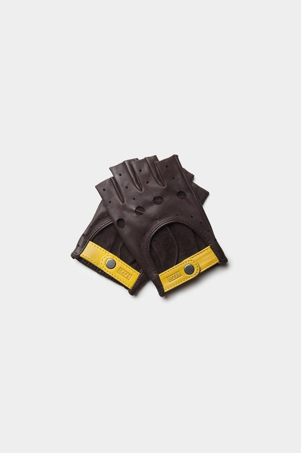 Cafe Leather Triton Fingerless Driving Gloves -  unisex - multicolor - Size: one fit