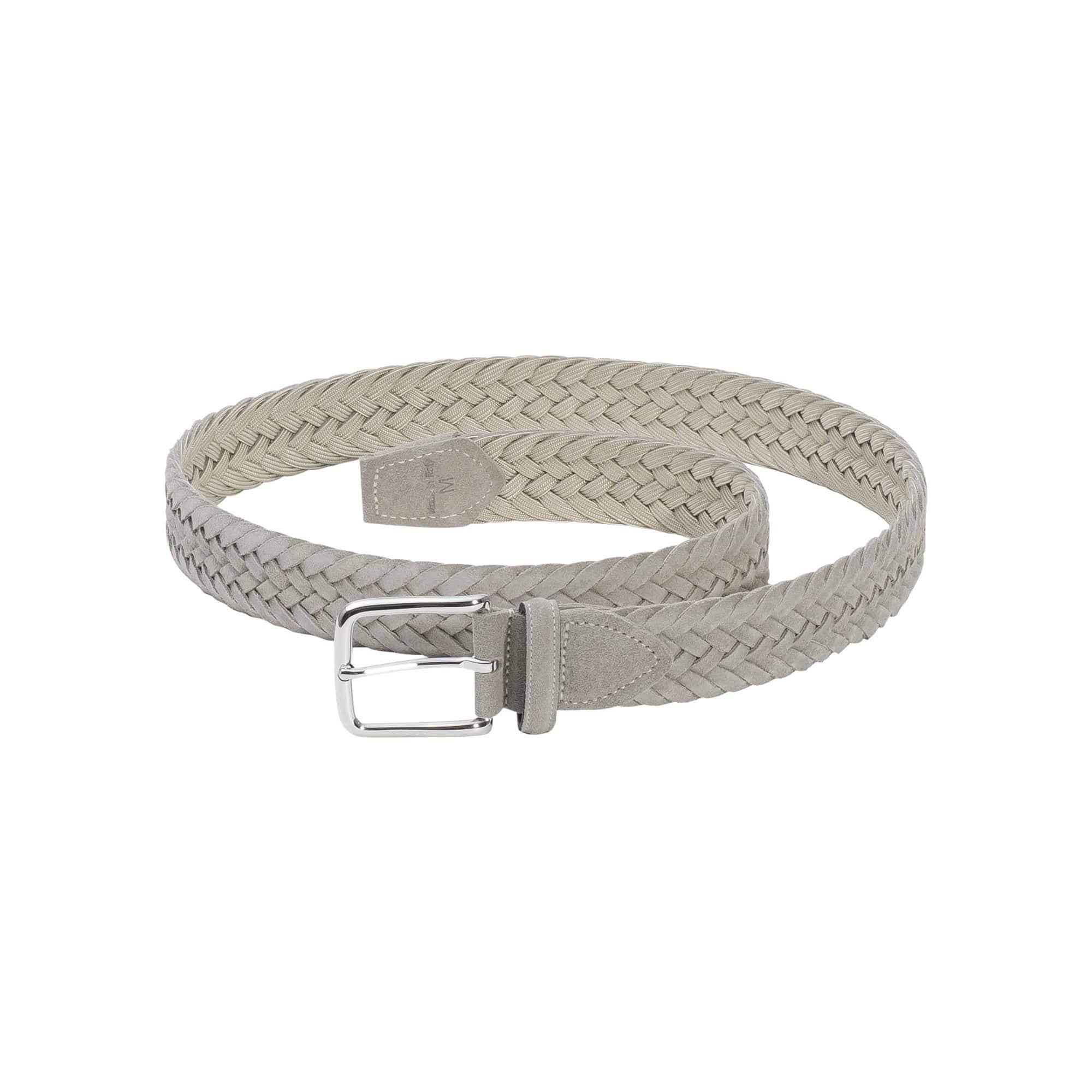 Dalgado Grey Gianluca Braided Suede Belt -  unisex - multicolor - Size: one fit