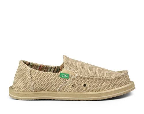 Sanuk Kids' Vagabond Boys Sidewalk Surfers Slip-On Shoes in Khaki, Size 4