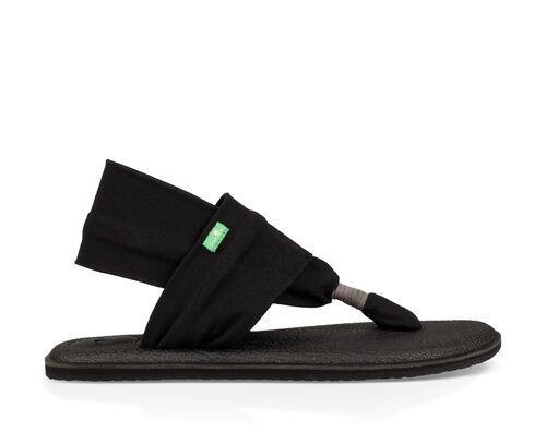 Sanuk Women's Yoga Sling 2 Sandals in Black, Size 6