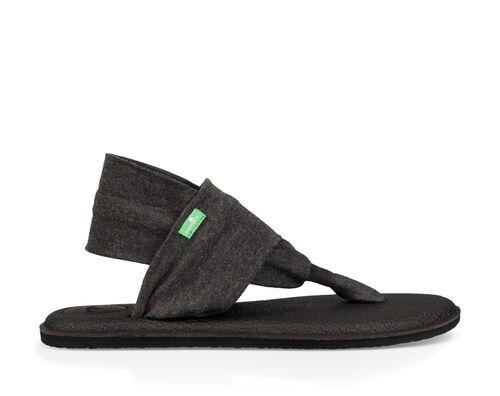 Sanuk Women's Yoga Sling 2 Sandals in Charcoal, Size 11