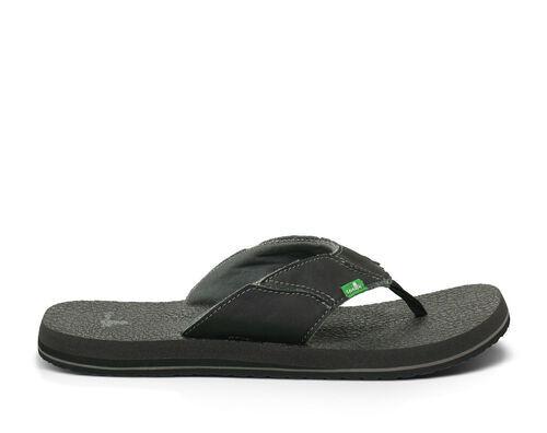 Sanuk Men's Fault Line Flip Flops in Charcoal, Size 11