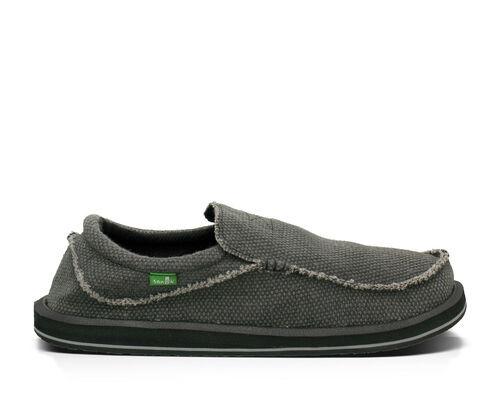 Sanuk Men's Chiba Sidewalk Surfers Slip-On Shoes in Black, Size 11