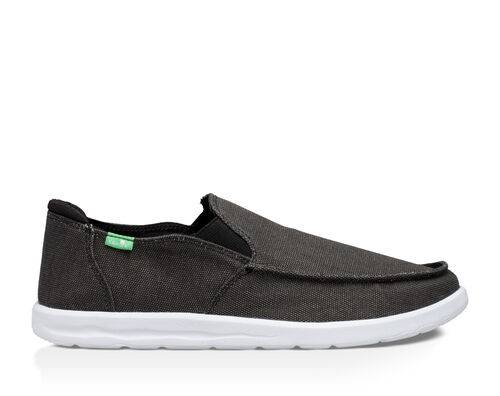 Sanuk Men's Hi Five Shoes in Black, Size 9