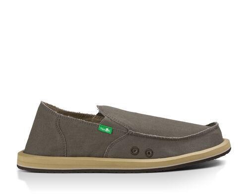 Sanuk Men's Vagabond Sidewalk Surfers Slip-On Shoes in Brindle, Size 14