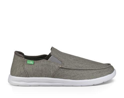 Sanuk Men's Hi Five Shoes in Grey, Size 12