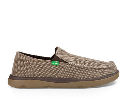 Sanuk Men's Vagabond Tripper Sidewalk Surfers Slip-On Shoes in Brown, Size 7