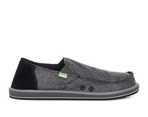 Sanuk Men's Vagabond Tweed Slip-On Shoes in Grey, Size 8