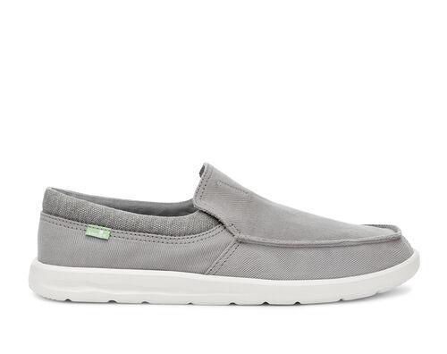 Sanuk Men's Hi Bro Lite Sidewalk Surfers Slip-On Shoes in Grey, Size 7
