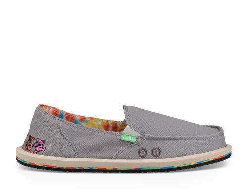 Sanuk Women's Donna Grateful Dead Sidewalk Surfers Slip-On Shoes in Dancing Bears, Size 6