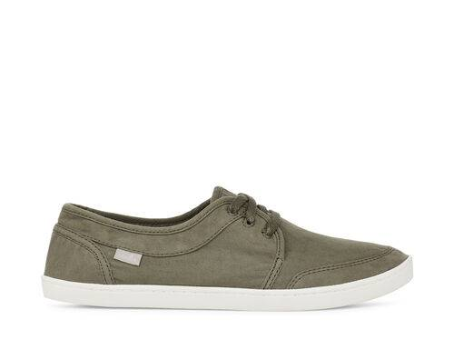 Sanuk Women's Pair O Dice Lace Shoes in Military Green, Size 5
