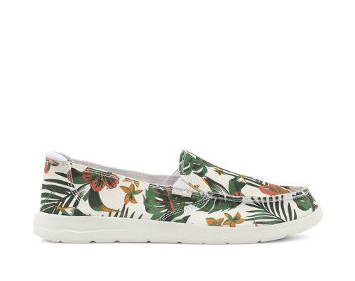 Sanuk Women's Donna Lite Floral Shoes in White, Size 9