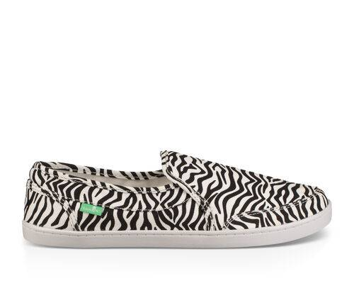 Sanuk Women's Pair O Dice Prints Shoes in Zebra, Size 8