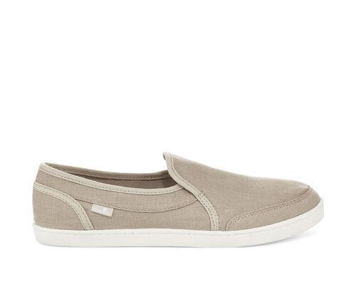 Sanuk Women's Pair O Dice Hemp Slip-On Shoes in Natural, Size 7.5