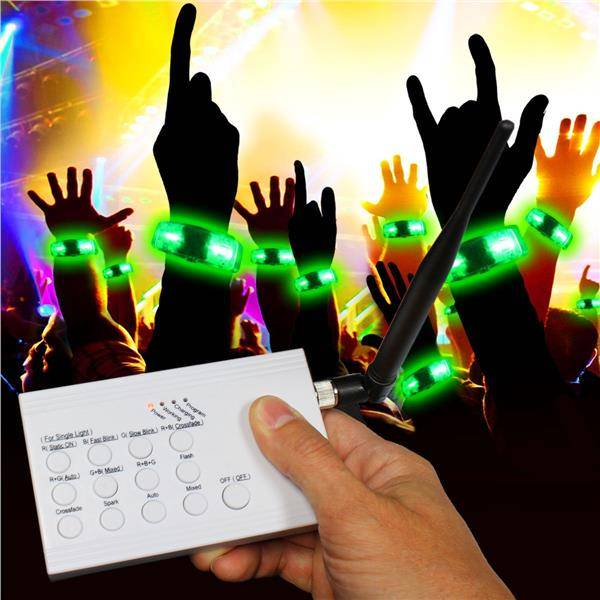 Windy City Novelties RF LED Concert Bracelets Kit for 20 by Windy City Novelties