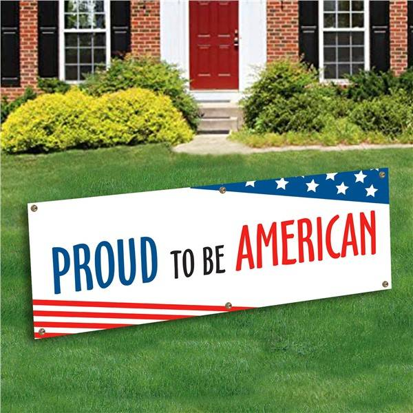 Windy City Novelties Proud to be American Banner Decoration by Windy City Novelties
