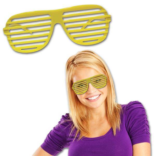 Windy City Novelties Yellow Slotted Glasses by Windy City Novelties