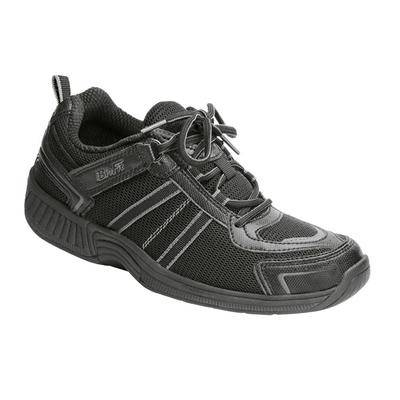 OrthoFeet #1 Diabetic Arthritis Athletic Shoes with Arch Support Black Sneakers For Women   OrthoFeet, 5.5 / Wide / Black