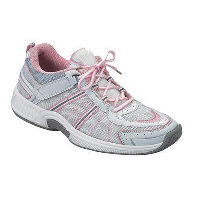 OrthoFeet #1 Overpronation Diabetic Neuropathy Wide Width Athletic Shoes Pink Sneakers For Women with Arch Support   OrthoFeet, 12 / Narrow / Pink