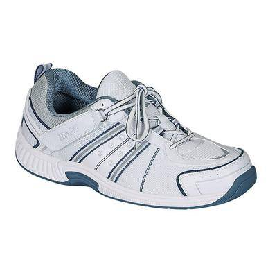 OrthoFeet #1 Comfortable Plantar Fasciitis Athletic Shoes with Arch Support Walking Shoes for Men   OrthoFeet, 8 / Medium / White