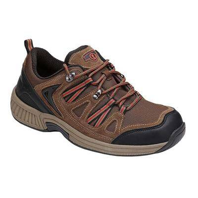 OrthoFeet #1 Orthopedic Heel Pain Relief Plantar Fasciitis Diabetic Outdoor Walking Shoes for Men   Orthofeet, 10.5 / Extra Wide / Brown