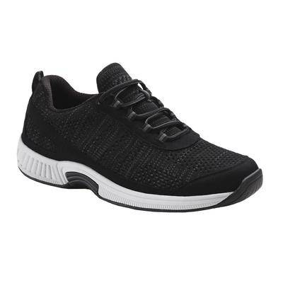 OrthoFeet #1 Plantar Fasciitis Orthotic Shoes Diabetic Orthopedic Sneakers with Arch Support   OrthoFeet, 10.5 / Wide / Black