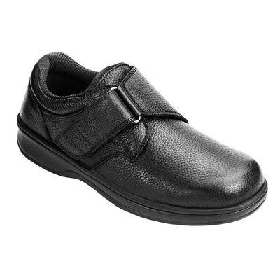 OrthoFeet #1 Plantar Fasciitis Relief Walking Shoes Diabetic Orthopedic with Arch Support For Men   OrthoFeet, 10.5 / Narrow / Black