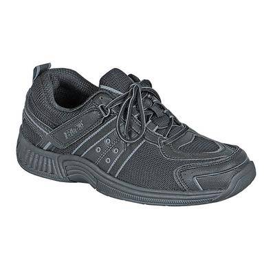 OrthoFeet #1 Morton's Neuroma Athletic Shoes Wide Width Diabetic Orthopedic Sneakers with Arch Support   OrthoFeet, 13 / Wide / Black