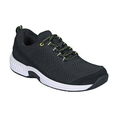 OrthoFeet #1 Plantar Fasciitis Orthotic Shoes Orthopedic Sneakers with Arch Support for Women   OrthoFeet, Black / 7.5 / Medium