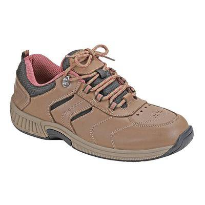 OrthoFeet #1 Diabetic Orthopedic Women's Outdoor Shoes   Orthofeet, 7.5 / Extra Wide / Brown